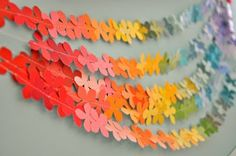 Paint chip garlands.