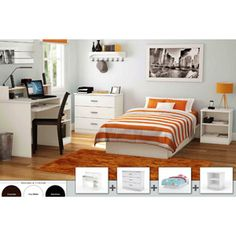 looking into getting a white South Shore 4-Piece Bedroom Furniture Set for my new place :-)