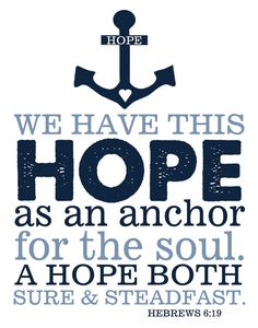 Bible Verse Hebrews 619 Hope Anchors Soul Print by TheEducatedOwl