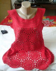 Delicadezas en crochet Gabriela: Túnica en crochet