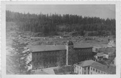 In the foreground: the Oregon City Woolen Mill in West Linn (then known as Linn City) is in the background on the far side of the river. West Linn, Oregon City, Woolen Mills, The Far Side, Blue Heron, Portland, Discovery, River, History