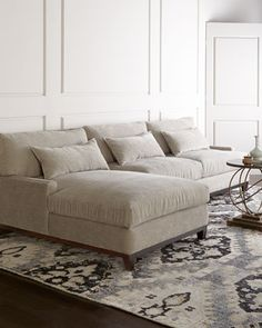Rena Sectional Sofa at Horchow.