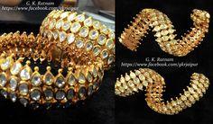 Gold & Diamond Polki Flexi Bracelet to woo them away | Bangles | Bracelets | Diamond Polki Jewelry | Bridal Jewelry | Traditional Indian Jewelry | Wedding Jewelry
