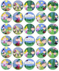 30 Ben And Holly Little Kingdom Cupcake Toppers Edible Paper Fairy Cake Toppers & Garden Gold Birthday Cake, Happy Birthday Candles, Birthday Cake Toppers, Berry Cupcakes, Girl Cupcakes, Imprimibles Ben Y Holly, Ben And Holly Party Ideas, Ben E Holly, Frozen Cake Topper