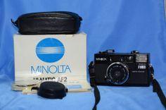 Konica Minolta Hi-Matic AF2 Auto Focus 35mm Film Camera in original box w/ case  #KonicaMinolta