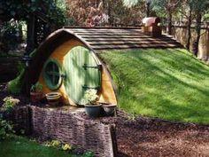 Back yard Hobbit house