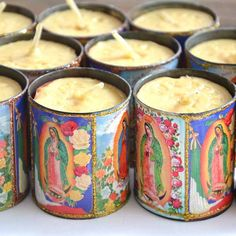Mexican Virgin Tin Candles - Third Wing - Melbourne Homewares, Lifestyle, Worldly Treasures, Home Decor, Culture | South Yarra Boutique