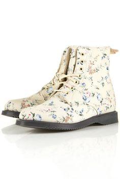 Dr Martens Floral Boots - TOPSHOP