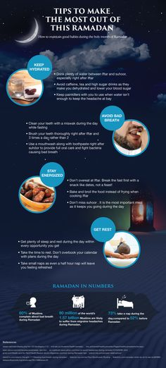 Tips to Make the Most Out of This Ramadan    #infographic #Ramadan #Health