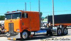 Peterbilt Cabover Truck Orange