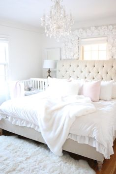 co-sleeper, best crib, best co-sleep, arms reach co-sleeper - A Darling Daydream Room Inspiration, Master Bedrooms Decor, Bedroom Decor, Shared Baby Rooms, Master Bedroom Nursery, Parents Room, Elegant Home Decor, Room, Baby Bedroom