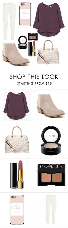 """259"" by chloemaespann ❤ liked on Polyvore featuring MANGO, Dune, MICHAEL Michael Kors, MAC Cosmetics, Chanel, NARS Cosmetics, Casetify, Acne Studios, women's clothing and women's fashion"