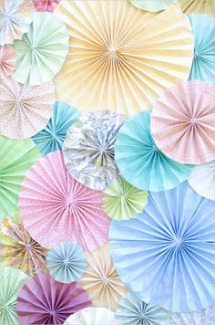 DIY photobooth background captured by Krista Lee Photography Pastel Palette, Pastel Colors, Colours, Pastels, Deco Champetre, Wedding Photo Booth, Paper Fans, Photo Booth Backdrop, Pretty Designs