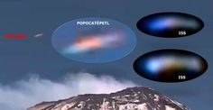 UFO Sightings Hotspot: Colorful UFO spotted above Popocatepetl volcano similar to 'ISS' colorful UFO