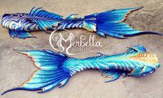 Beautiful in Blue Mermaid Tail by MerBellas on DeviantArt Blue Mermaid Tail, Mermaid Fin, Mermaid Tale, Manga Mermaid, Tattoo Mermaid, Fantasy Mermaids, Real Mermaids, Mermaids And Mermen, Realistic Mermaid Tails