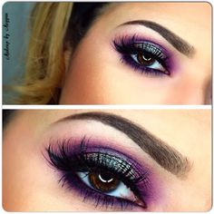 plum/purple featuring Make up Geek Insomnia