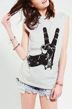 bricapoz24's save of Urban Outfitters - Blackstone Peace Muscle Tee on Wanelo