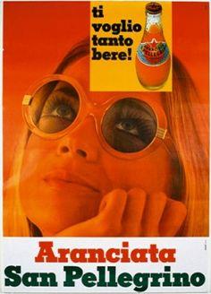 "San Pellegrino Aranciata Poster anni ""70"