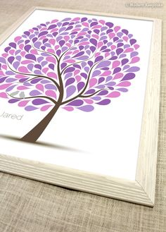 Personalized Wedding Guest Book Tree Alternative
