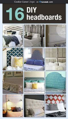 I'm so glad there are so many incredible DIY headboard ideas here, because buying a headboard is so OUT of my budget (have you seen the cost of those things?!). Love these! by marcy