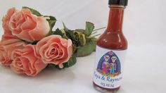 Fiesta Hot Sauce Wedding Favors  Mr Mrs Skeleton