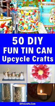 50 Jaw-Dropping Ideas for Upcycling Tin Cans Into Beautiful Household Items!Here are 50 incredible tin can recycling projects that will blow your mind! I can't wait to try these projects for myself, and I know you'll be just as excited to do some of these yourself! #diy #upcycle #recycle #tincans #crafts #ecofriendly #UpcycledBedroomIdeas Diy Projects Using Tin Cans, Recycling Projects, Diy Arts And Crafts, Diy Crafts To Sell, Christmas Art For Kids, Tin Can Flowers, Tin Can Lanterns, Soda Can Crafts, Tin Can Art