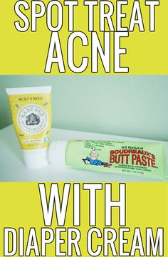 Spot Treat Acne with Diaper Cream