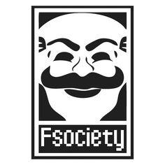 Adesivo MR. ROBOT FSOCIETY
