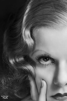 Jean Harlow - close-up portrait.