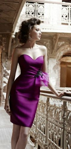 purple bridesmaid dress so nice #short