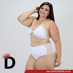 Biquini Ilusion Branco Plus Size