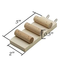 Natural Wood Step Stairs For Hamster Mice Chinchilla Chipmunk, Small Animals Habitat Toy HM-04