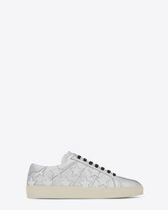 Saint Laurent Sneaker COURT CLASSIC SL/06 CALIFORNIA Argent Et Blanc Optique | YSL.com