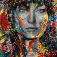 Street art Dark Grey Wallpaper, 3d Wallpaper, Wallpaper Backgrounds, David Walker, Graffiti, Amazing Street Art, Portraits, Dio, Street Artists
