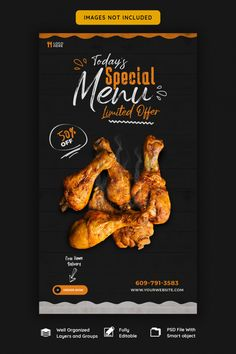 Food Graphic Design, Food Menu Design, Food Poster Design, Restaurant Menu Design, Standee Design, Chicken Menu, Bbq Menu, Food Banner, Vegan Cafe