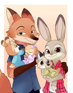 Judy and Nick from Zootopia by chacckco -ahh yes love this artist! Description from pinterest.com. I searched for this on bing.com/images