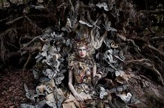 Costume design merged with book art by Kirsty Mitchell
