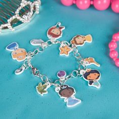 Disney Princess Charm Bracelet DIY with printable charms (with use of shrink paper)