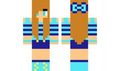 minecraft skin cute-blue-girl Find it with our new Android Minecraft Skins App: https://play.google.com/store/apps/details?id=the.gecko.girlskins
