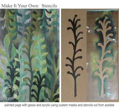 Michelle Ward's great tutorial and samples for cutting masks and stencils. Totally do-able.