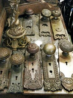 Beautiful old door knobs
