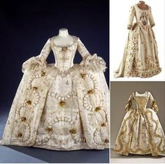 trajes del siglo XVIII.