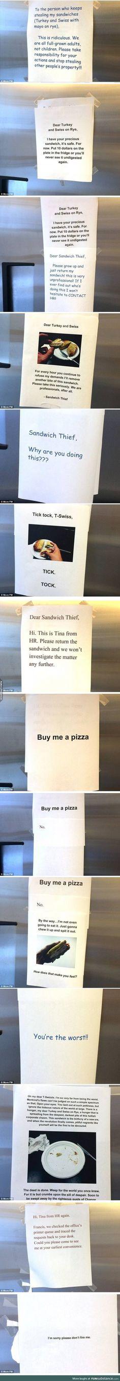 A Sandwich Thief