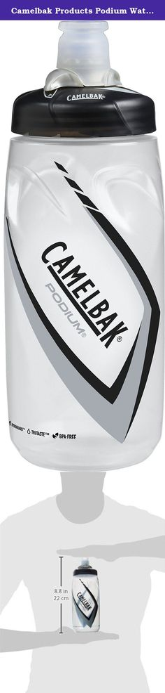 Camelbak Products Podium Water Bottle, Carbon, 24-Ounce. CamelBak Podium 24 oz. revolutionized the sport bottle by offering an innovative design that simplifies high performance hydration. The patented spill-proof, self-sealing Jet Valve allows the user to hydrate immediately without having to open or close a drinking interface and the bottle's streamlined ergonomic design offers excellent squeezability without compromising bottle grip. The large aperture of the drinking nozzle generates…