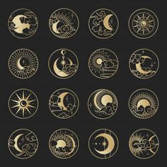 Star Wars Discover Asian Circle Set With Clouds Moon Sun Stars . Vector Collection In Oriental Chinese Japanese Korean Style. Asian circle set with clouds moon sun. Deco Surf, Tattoo Drawings, Art Drawings, Bauch Tattoos, Typographie Logo, Bild Tattoos, Sun And Stars, Moon Art, Mandala Art