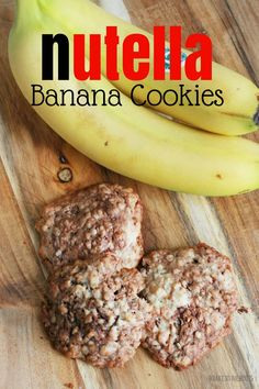 Nutella Banana Cookies | Bake to the roots