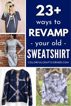 Transform your sweatshirts and hoodies from cozy to chic with these easy refashion ideas. Find out how to revamp a sweatshirt with sewing, painting, decorating, or cutting. DIY clothes no-one would tell are handmade! #sweater #refashion #DIYclothes #revamp #alteration #hoodie Old Sweatshirt, Sweatshirt Refashion, Diy Shirt, Clothes Refashion, Diy Clothes, Cut Sweatshirts, Hoodies, New Outfits, Diy Fashion