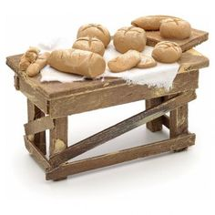 Mesa del pan pesebre napolitano
