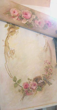 Cindy Ellis, wreath painting workshop