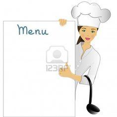 menu- female chef